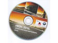 BMW, AUDI, VW, MERCEDES, UK, EUROPE 2017 MAPS UPDATE DVD