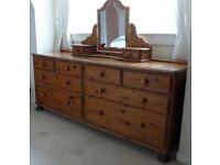 Complete bedroom suite of furniture