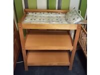 changing table with mat mamas and papas