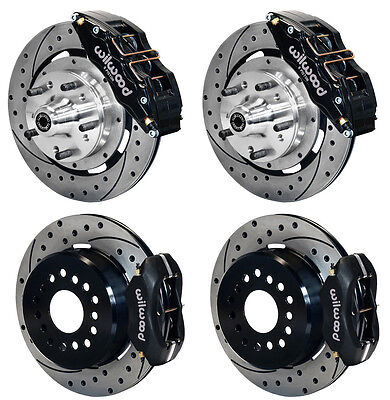 "WILWOOD DISC BRAKE KIT,65-72 CDP C-BODY,12"" DRILLED ROTORS,6 PISTON BLK CALIPERS"