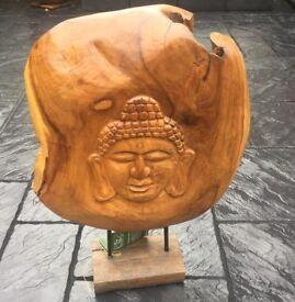Teak Root Wood, Large Buddah Bust.