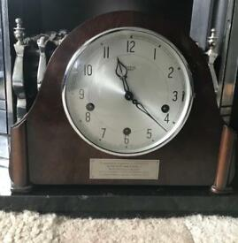 Smiths westminster chime mantle clock railway connection
