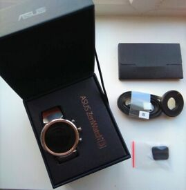 ASUS Zenwatch3 WI503Q Android Wear OS Leather band Smart Watch IOS