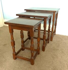 Solid Wooden Nest of Tables