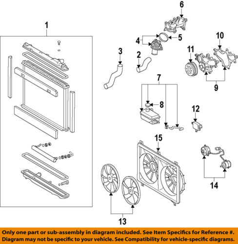 Lexus TOYOTA OEM 07-17 LS460-Engine Water Pump 1610039506 | eBayeBay