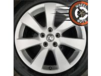"18"" Genuine Vauxhall Astra GTC alloys excel cond excel tyres."