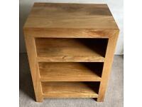 Compact TV, DVD, HI-Fi, Sky Unit (Small, Solid Wood, Light Mango, Similar to Oak)