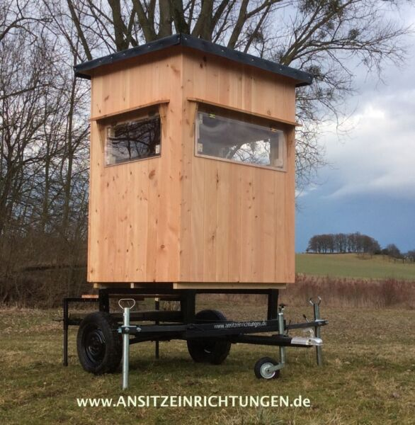 ansitzwagen hochsitz fahrbare ansitzkanzel mobile jagdkanzel jagd in niedersachsen j hnde. Black Bedroom Furniture Sets. Home Design Ideas