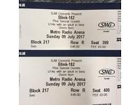 2 x seated Blink 182 tickets Newcastle 9th July (less than face value price)