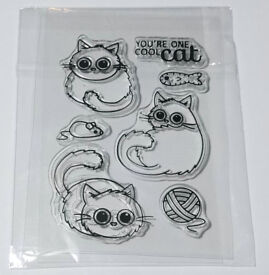 Cute Cat Kitten Clear Rubber Stamps Silicone - Mouse/Fish/Wool - Free P&P - BNIP