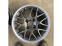 """Genuine BBS RX2 RXII 4x100 Split Rims VW Polo/Golf GTI Grey X4 Full Set 15"""""""