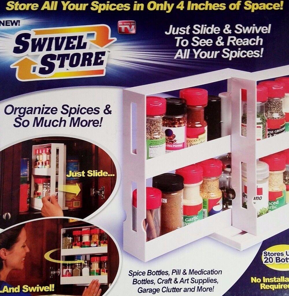 slide and swivel spice storage