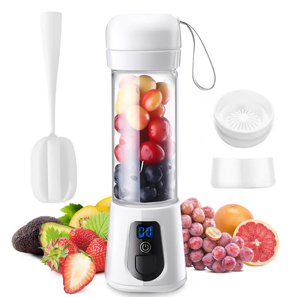 Personal Portable Blender Juicer for Shakes and Smoothies USB +Bottle Brush NEW