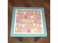 Shabby Chic Upcycled table with bunting decoupage - ANNIE SLOAN