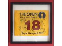 The 2014 Open Championship pin flag