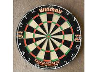 Winmau Diamond dart board Unused
