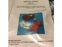 Knitting Basket Knitting Kit for 1:12 Scale Dolls House