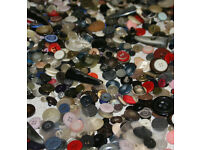 Assorted Buttons (vintage, modern, new, used, ... wide mix) ... 1.5 Lbs