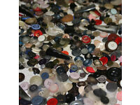 1.5 Lbs of Assorted Buttons (vintage, modern, new, used, ... wide mix)