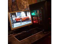 Gaming computer full setup(cheap}