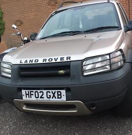 2002 Land Rover Freelander 12 Month MOT