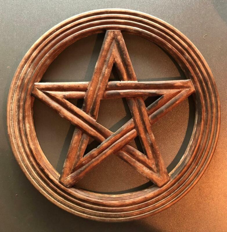 Rustic Wooden Pentagram Wall Hanging! Ready to Hang!