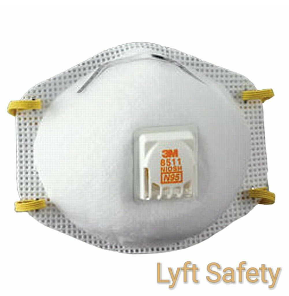 3M 8511 N95 Dust Particulate Respiratory Protection Half Fac