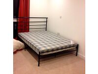 Great condition double mattress and bed frame