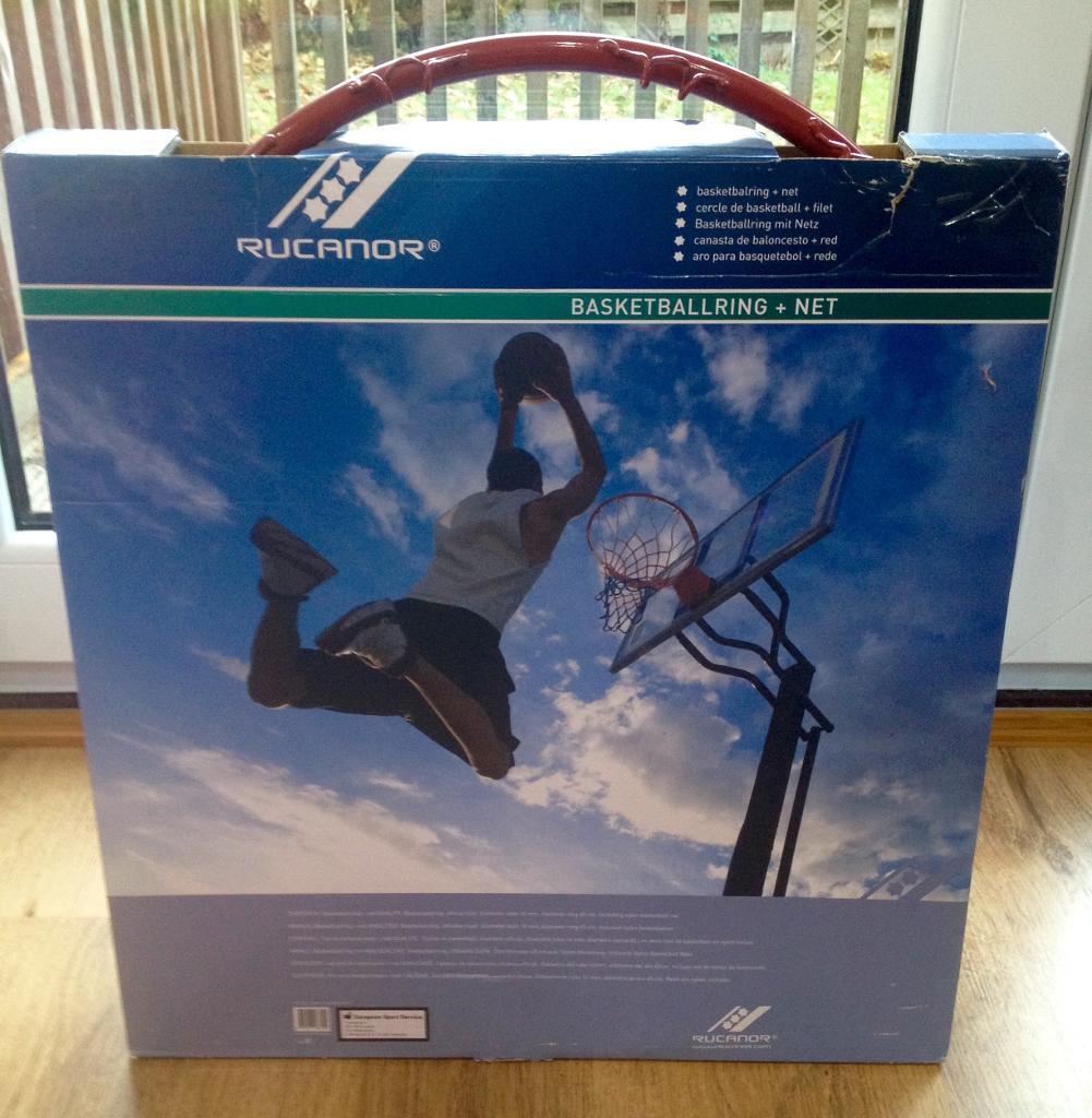 BRAND NEW Rucanor basketball ring and net