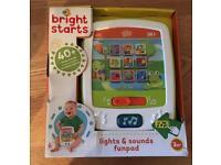 New Bright starts baby lights & sounds fun pad
