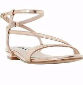Dune - Strappy Metallic Sandals SIZE UK 3 EURO 36 - Brand New, Boxed Rrp £55
