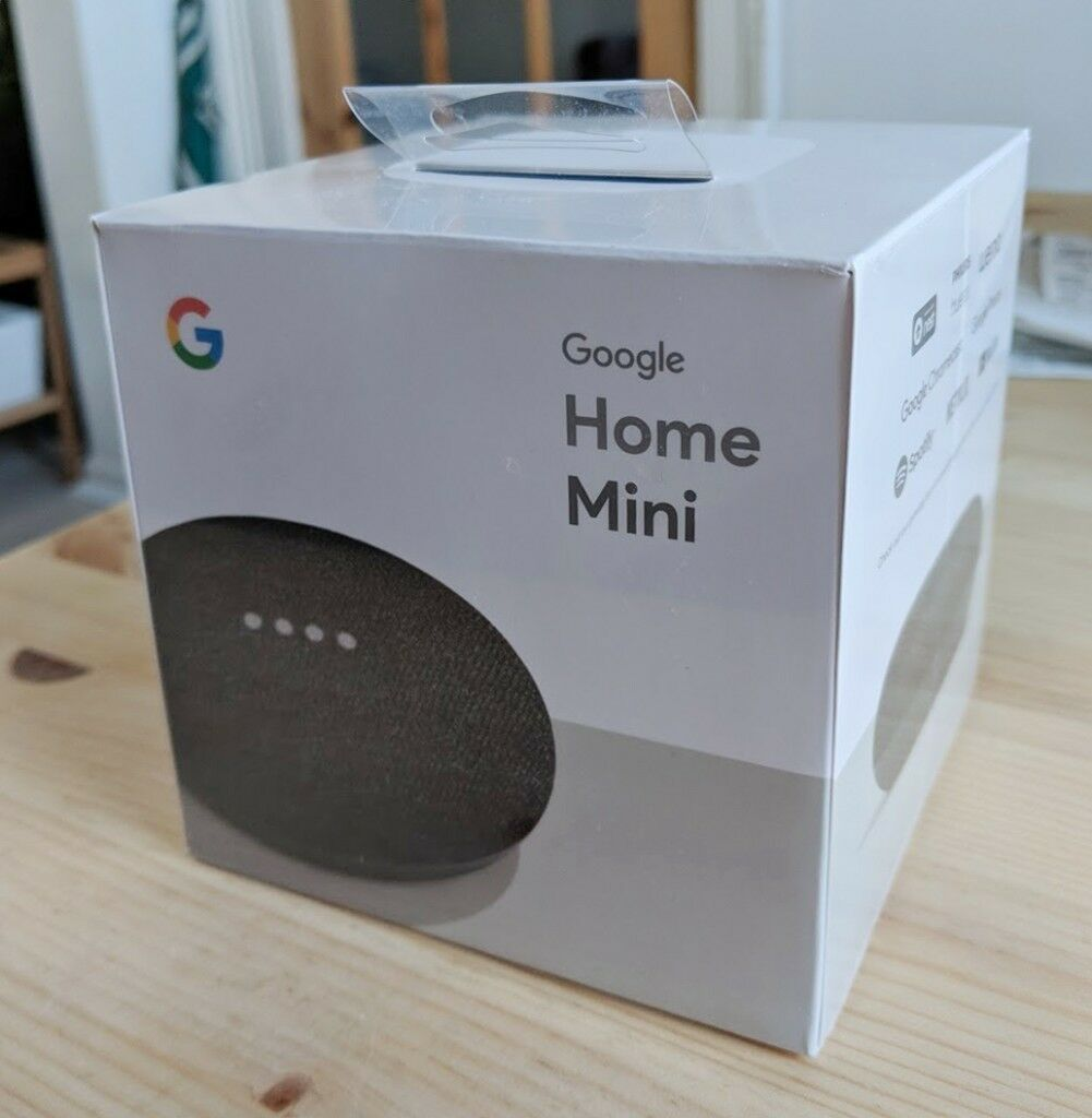 brand new google home mini box unopened in county. Black Bedroom Furniture Sets. Home Design Ideas
