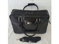 Black Croc Lap top bag