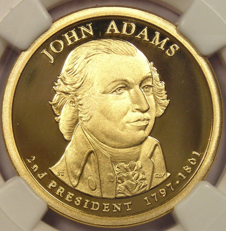 2007-S Proof John Adams Dollar - NGC PF70 Cameo!