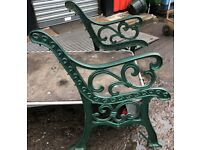 2 SETS CAST IRON BENCH STANDS/LEGS