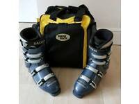 DACHSTEIN Men's Ski Boots (UK 11) Blue/Silver & SNOW + ROCK Bag (Black/Yellow)