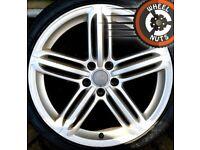 """19"""" Genuine Audi A4 Segment alloys good cond Pirelli tyres"""