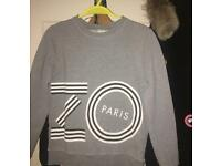 KENZO Paris print SWEAT SHIRT in GREY