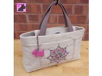 RADLEY - Medium Straw & Leather Grab Bag. *New, no shop tags*
