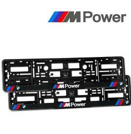 BMW M Power Number Plate Surround