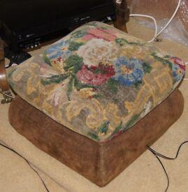 Vintage Chenil Covered Box Stool