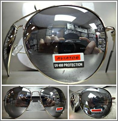 OVERSIZED VINTAGE RETRO Style SUN GLASSES SHADES Huge Silver Frame Mirror (Sun Style Mirror)