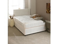 EXCLUSIVE SALE! Brand New Beds! FREE delivery! Double (Single + King Size) Divan & Sprung Mattress