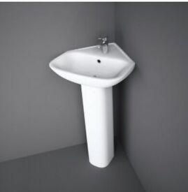 Corner Basin with Full Pedestal RRP £78.95 (Brand new)