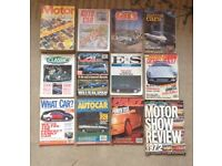 28x car magazines dating from the 70s to the 90s