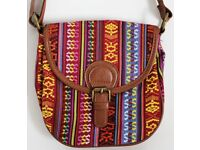 Small Multi Coloured Patterned Messenger Bag