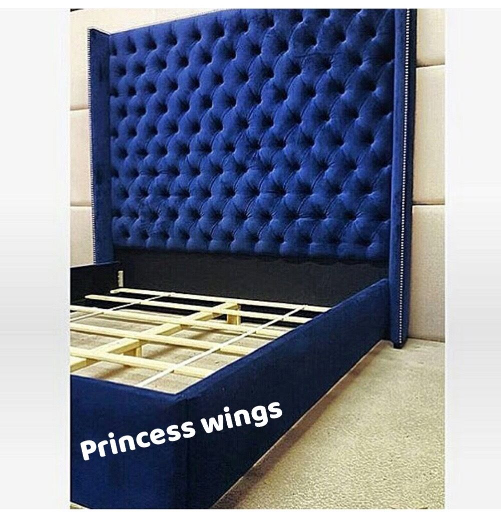 Brand new crushed velvet Princess Wings Bed