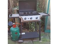 BARBECUE GAS WITH LID PLUS REFILL AND COVER