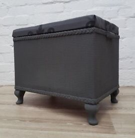 chalk painted ottoman (DELIVERY AVAILABLE)