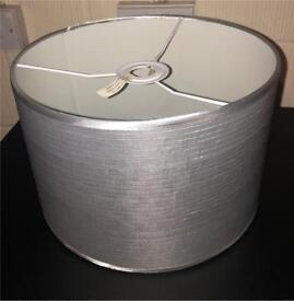 Silver / Grey Light Lamp Shade In Perfect Condition